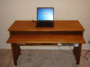 Step 1 : This is how my newly bought Solid Oak Desk from Craigslist looked like....